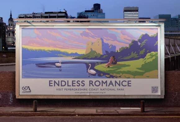 Endless Romance Pembrokeshire Coast Poster