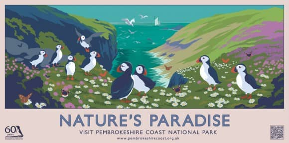 Nature's Paradise Pembrokeshire Coast Poster