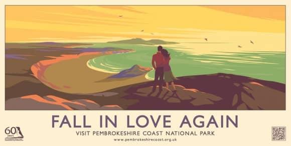 Fall In Love Pembrokeshire Coast Poster