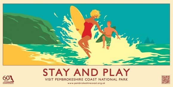 Stay and Play Pembrokeshire Coast Poster