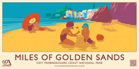 Miles of Golden Sand Pembrokeshire Coast Poster