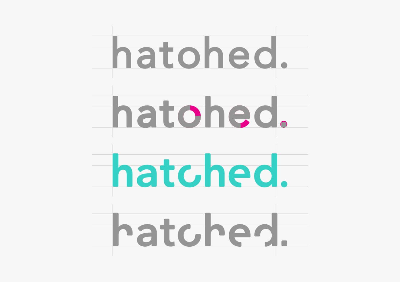 Hatched rebrand logo development