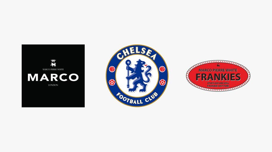 Chelsea and Marco Pierre White Logos