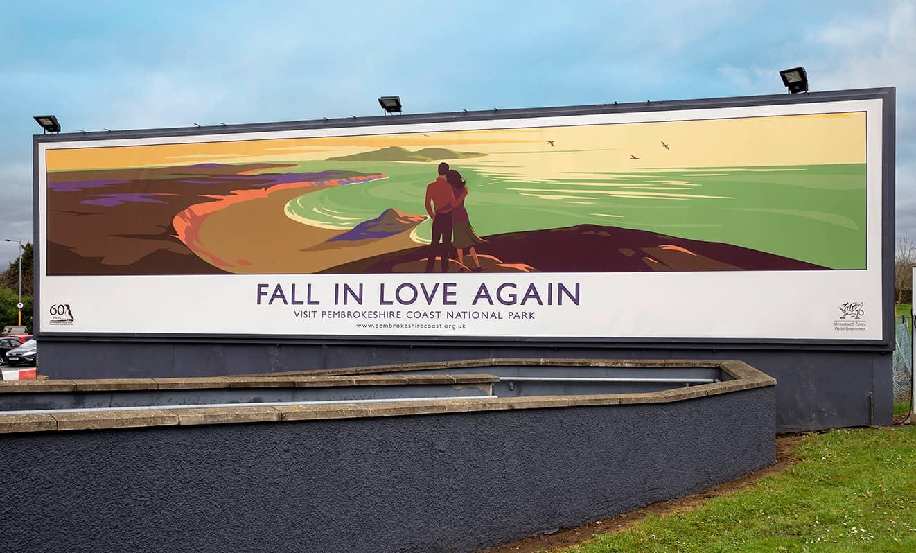 Fall In Love Again Cardiff Airport BIllboard