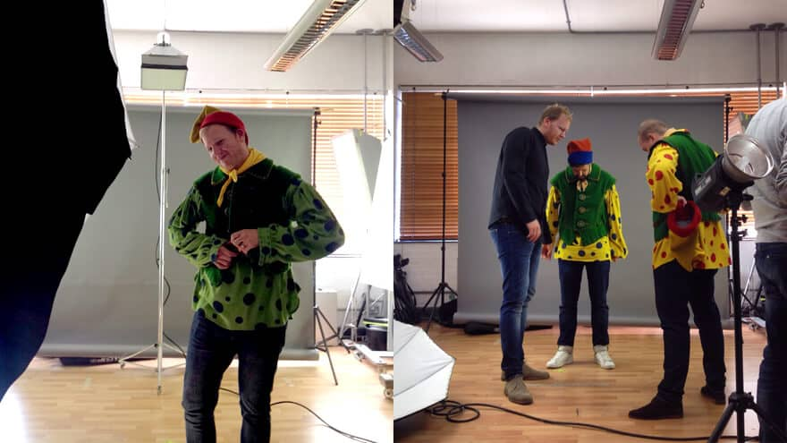 Hatched Agency Christmas Card 2014 - Andy, Andrew, Lee and Andrew