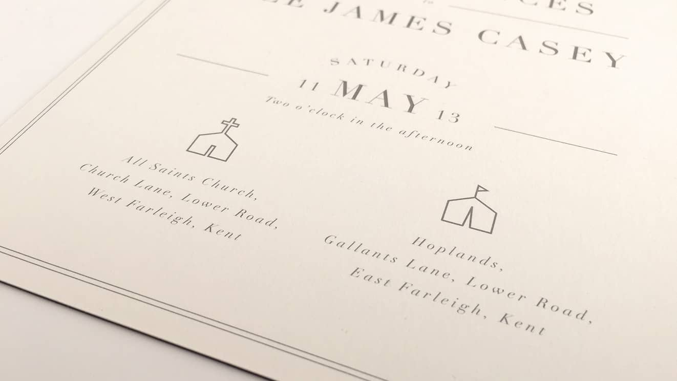 Wedding Stationery back of invite