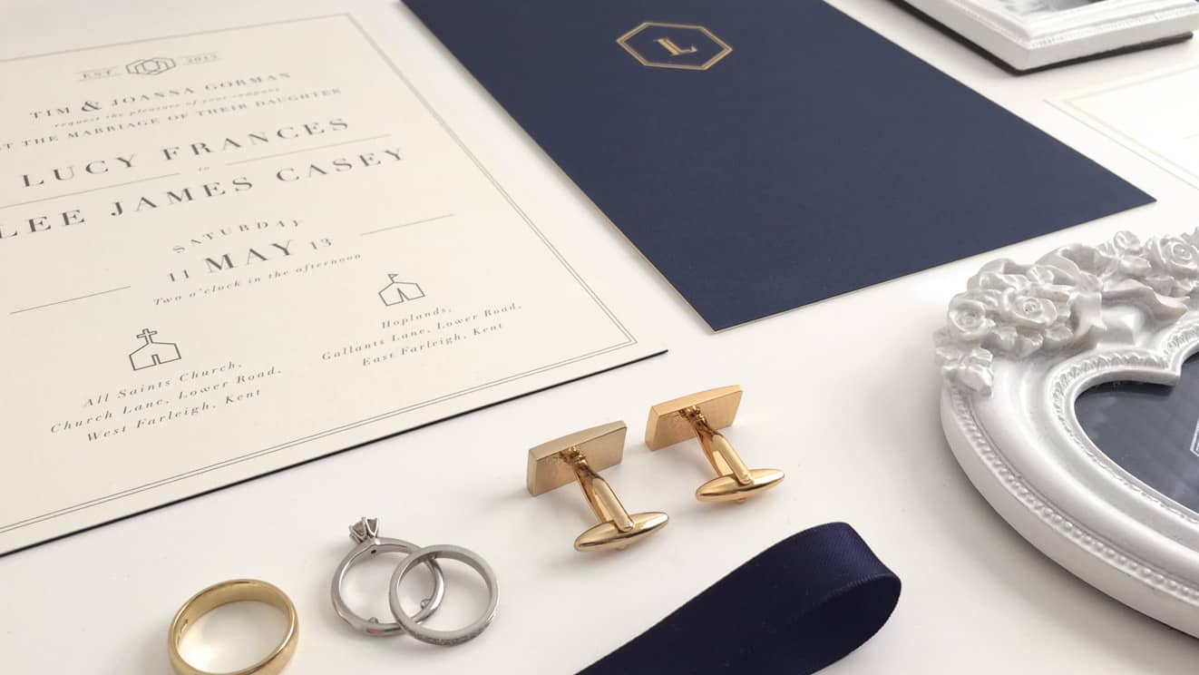 Wedding Stationery close up