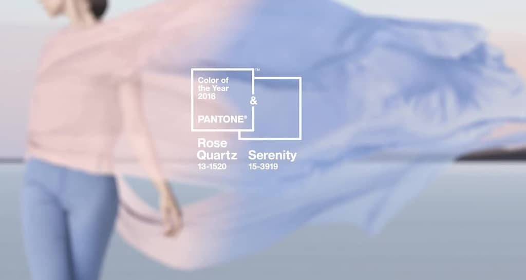 Pantone 2016 Colour of the year Rose Quartz & Serenity