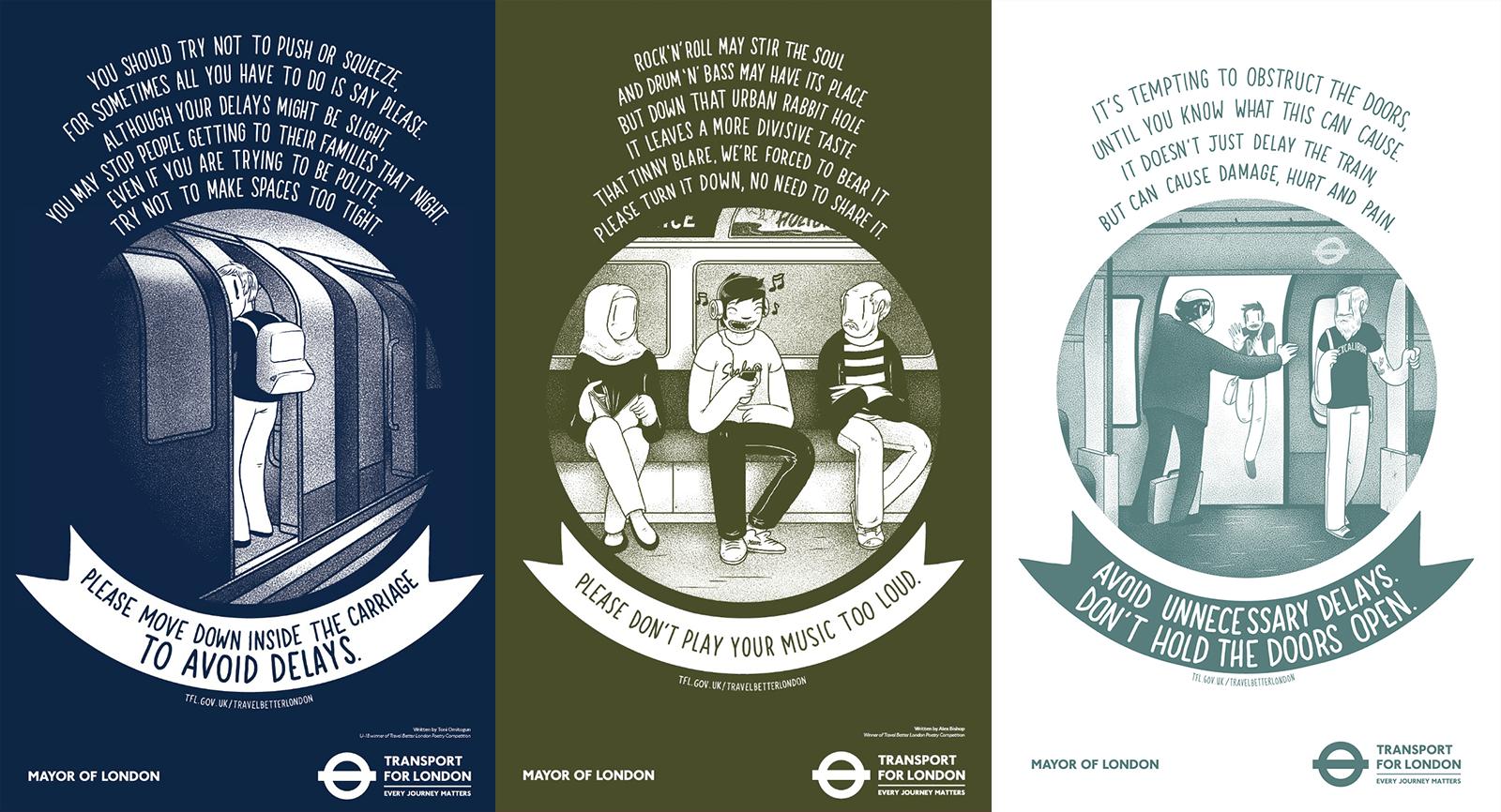 london underground mcbess posters