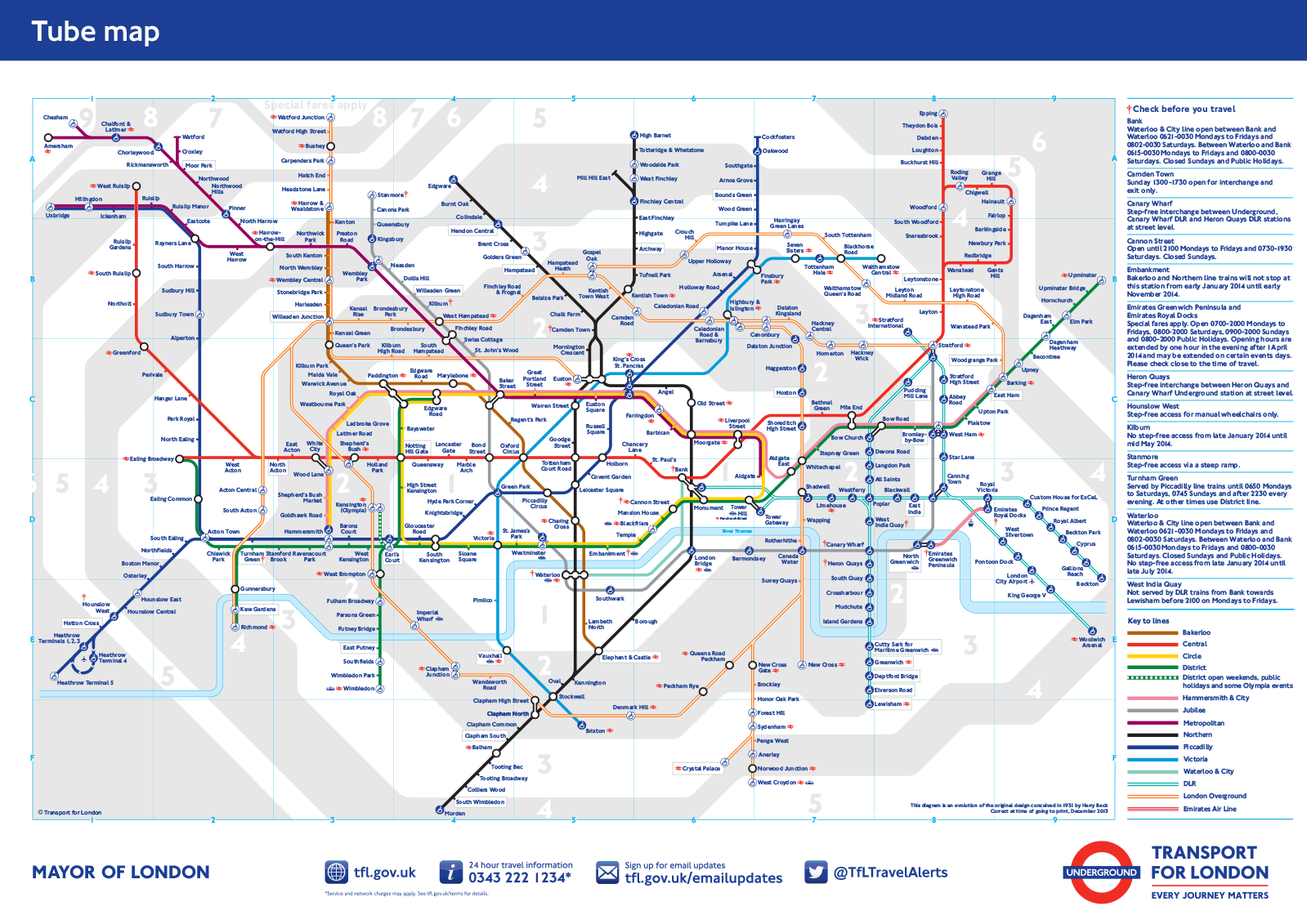 london underground tube map new